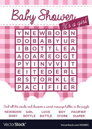 how to word a baby shower invitation baby girl shower invitation with word puzzle