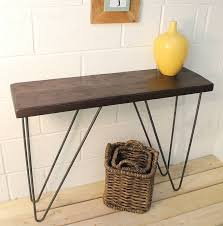 wooden console table. Industrial Wood And Steel Console Table Wooden