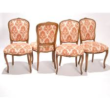 four french country upholstered dining chairs painted furniture