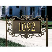 Wood Address Signs Outdoor Decor Vintage Custom Address Lawn Plaques With Outdoor Mears Fretwork 53
