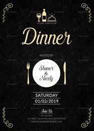 Dinner Invation Dinner Invitation Card Template