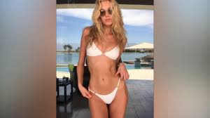 Elsa Hosk sizzles as she flaunts peachy posterior in white bikini ...
