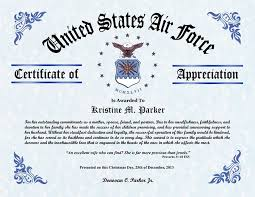 Military Certificate Of Appreciation Template New Certificate Of Appreciation Air Force Raised Ranch Deck Designs