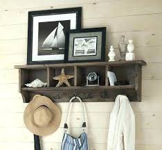 wall mounted coat hooks with shelf coat storage rack wall mounted coat rack with storage coat