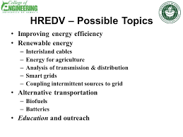 collaborative education and research in renewable energy and  10 hredv possible topics improving energy efficiency renewable