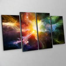 >dramatic deep space nebula canvas print wall art large 4 piece multi  image is loading dramatic deep space nebula canvas print wall art