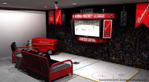 sport corner man cave decor. 4-hockey-man-cave-upper-corner-hockey Sport Corner Man Cave Decor