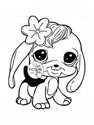 Small Picture Littlest Pet Shop Cute Bunny Coloring Page For Kids Animal At Pe