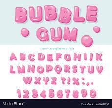 Bubble Letter Designs Bubble Gum Font Design Sweet Abc Letters And