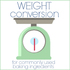 Weight Conversions For Baking Baking A Moment