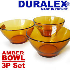 duralex duralex amber bowl 3 piece set reinforcement made of glass glass france