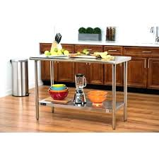 stainless steel utility table kitchen island with drawer