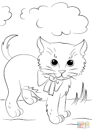 Small Picture Cute Kitten with Bow Tie coloring page Free Printable Coloring Pages
