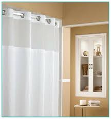shower curtain clear top panel fabric