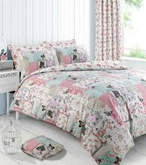 fl patchwork boutique pink duvet