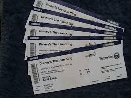 lion king musical 2e kaartje