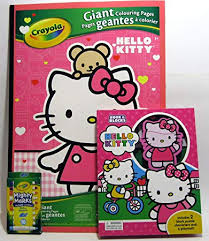 Find the best hello kitty coloring pages for kids & for adults, print and color 292. Buy Hello Kitty Giant Coloring Pages Bundle With Book And Blocks And Crayola Mighty Marks Washable Markers Online At Low Prices In India Amazon In
