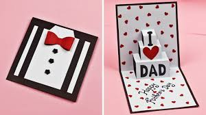 Threat the dad of the house with an amazing father's day card. Diy Father S Day Greeting Card Idea Easy Pop Up Card For Father S Day Father S Day Card Youtube