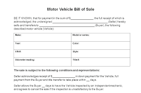 Printable Automobile Bill Of Sale Texas Vehicle Bill Of Sale Template