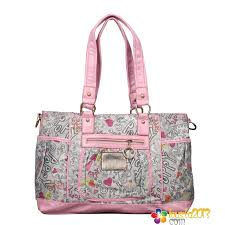 Coach Poppy Cute Logo Large Multi Totes Pink