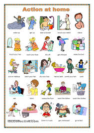 daily routine game esl powerpoint worksheet of the day on daily routines action at home