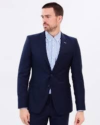 double oak mills mens parkham suit jacket navy 85220