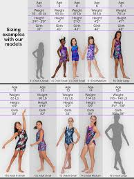 Child Leotard Size Chart Getting The Right Size Leap Gear Leap Gear By Pelle