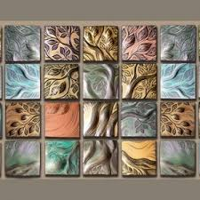 Decorative Tiles For Wall Art Ceramic Wall Art Backsplash tile handmade tile Natalie Blake Studios 14