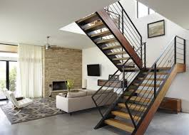 ... Stair Design Ideas Interior Staircase Design In Main Hall For Duplex  House With Sofa Fan Tv ...
