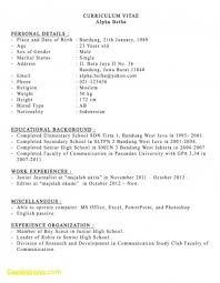 Spanish Resume Template Simple Curriculum Vitae Template En Espanol How Do You Say Resume In