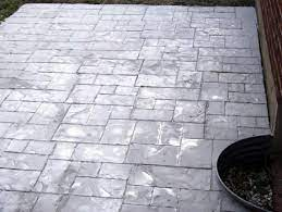 existing patio with concrete stamping