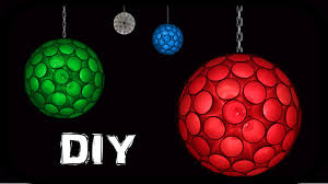 how to make ceiling hanging sparkle ball with drinking glasses and led lights you