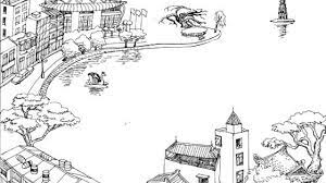 Bé tập tô màu tranh phong cảnh quê hương - Kids Art&Music Saigon