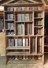 bookshelf made out of old pallets diy projects