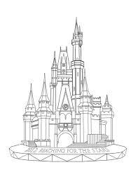 bonanza disney castle coloring pages best free