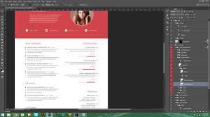 Psd Tutorial Material Design Resume Youtube