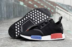 adidas shoes nmd womens black. black, sapphire-blue, red - adidas originals nmd runner womens shoes black