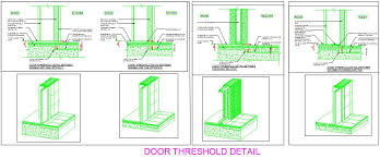 Door Sill and Threshold detail Plan n Design