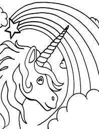 Regnbue Tegninger 4 Coloring Pages Unicorn Coloring Pages Kids