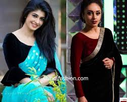 Latest Velvet Saree Designs Add A Royal Touch To Your Sarees With Velvet Blouses