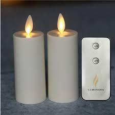set of 2 luminara votive flameless candles light 1 75 x3 ivory unscented moving