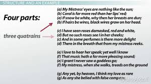 english sonnet definition rhyme