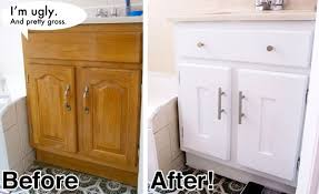 The before looks like my bathroom cabinets and they are ugly