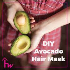 diy avocado egg yolk hair mask