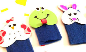how to make animal felt finger puppets