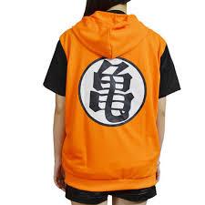 Holran Dragon Ball Z Son Goku Clothing Hooded Short Sleeve Tshirt Tee