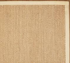 color bound seagrass rug natural pottery barn