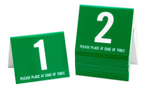 Restaurant Table Numbers Table Markers Restaurant Table