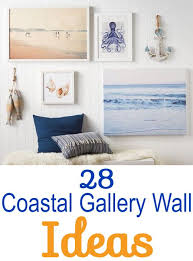 Perfect decorating theme for the lover of the sea. 32 Coastal Gallery Walls Inspiration Ideas To Create A Compelling Wall Art Display Coastal Gallery Wall Family Room Wall Decor Farmhouse Gallery Wall