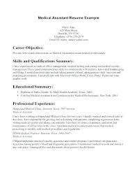 Best Ideas Of Terrific Medical Assistant Resume Skills Examples Cute